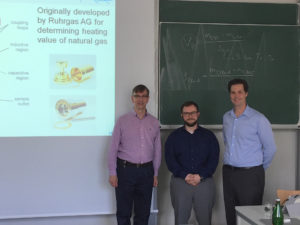 Prof. Martin Trusler of Imperial College, Prof. Markus Richter of Ruhr University & Prof. Eric May of UWA