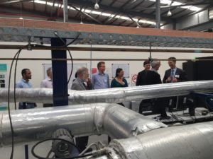 Separation & Sensing Workshop attendees touring the Gas Flow Loop at ARRC